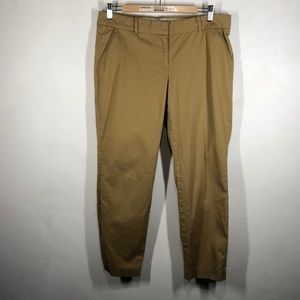 J.Crew Cafe Capri tan pants size 6